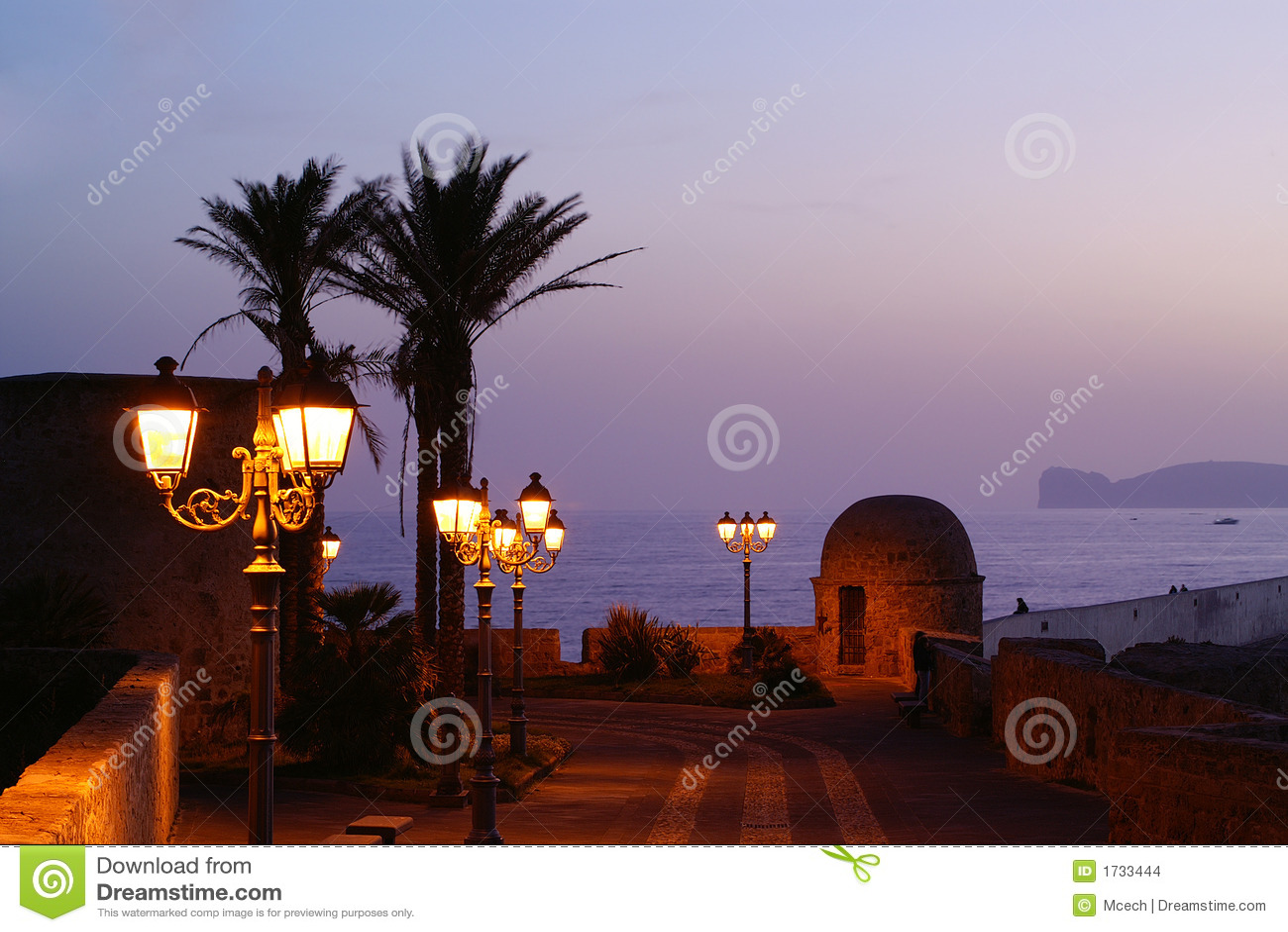 Alghero in night.