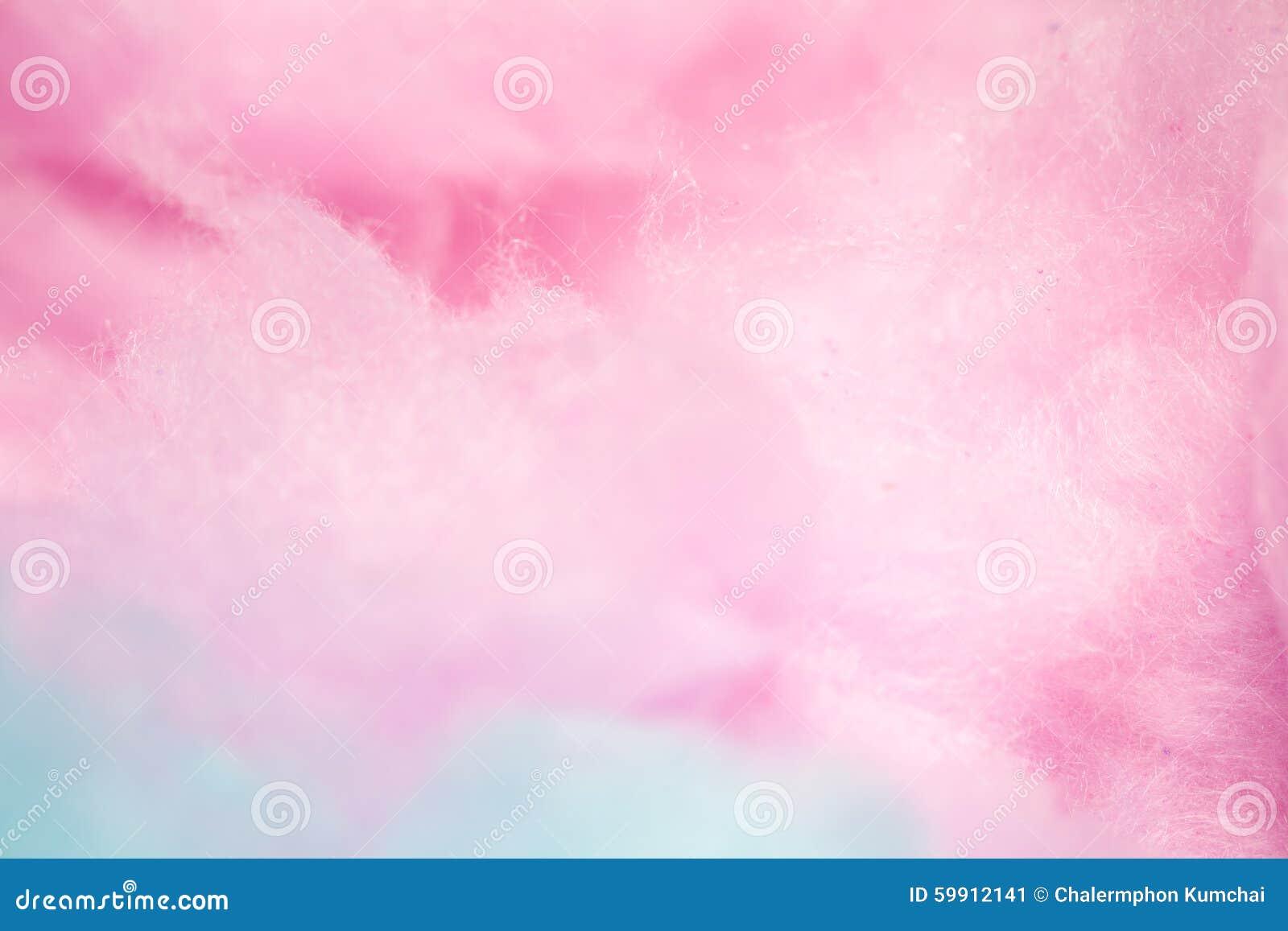 Algodão doce colorido na cor macia para o fundo