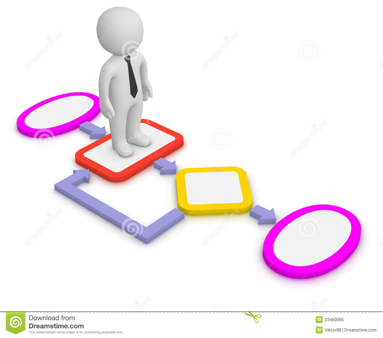 Algorithm With 3d Man Royalty Free Stock Photo - Image: 23460065