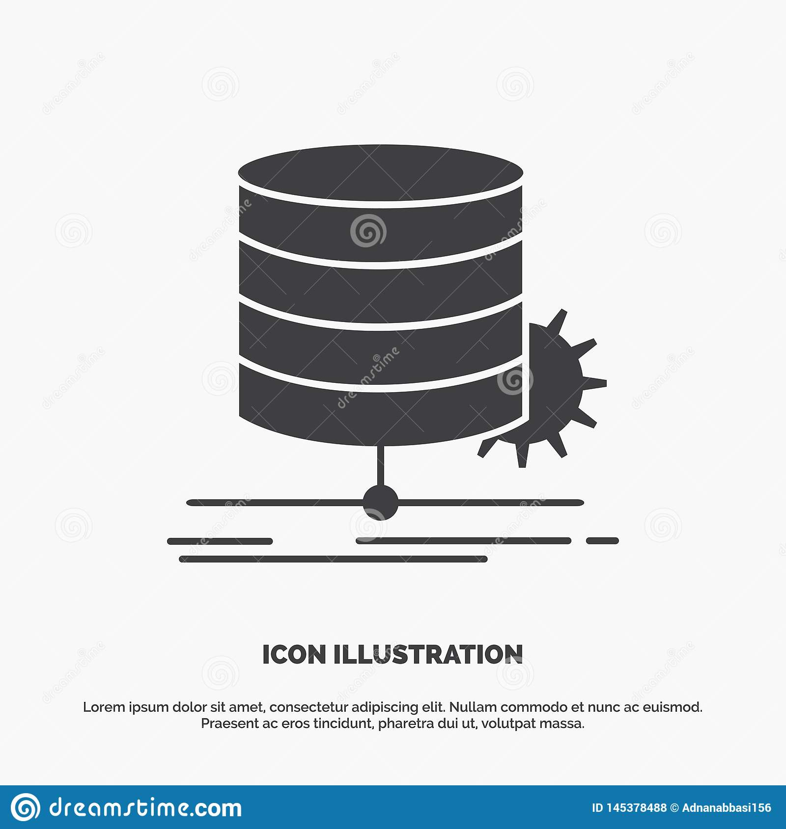 Algorithm, chart, data, diagram, flow Icon. glyph vector gray symbol for UI and UX, website or mobile application