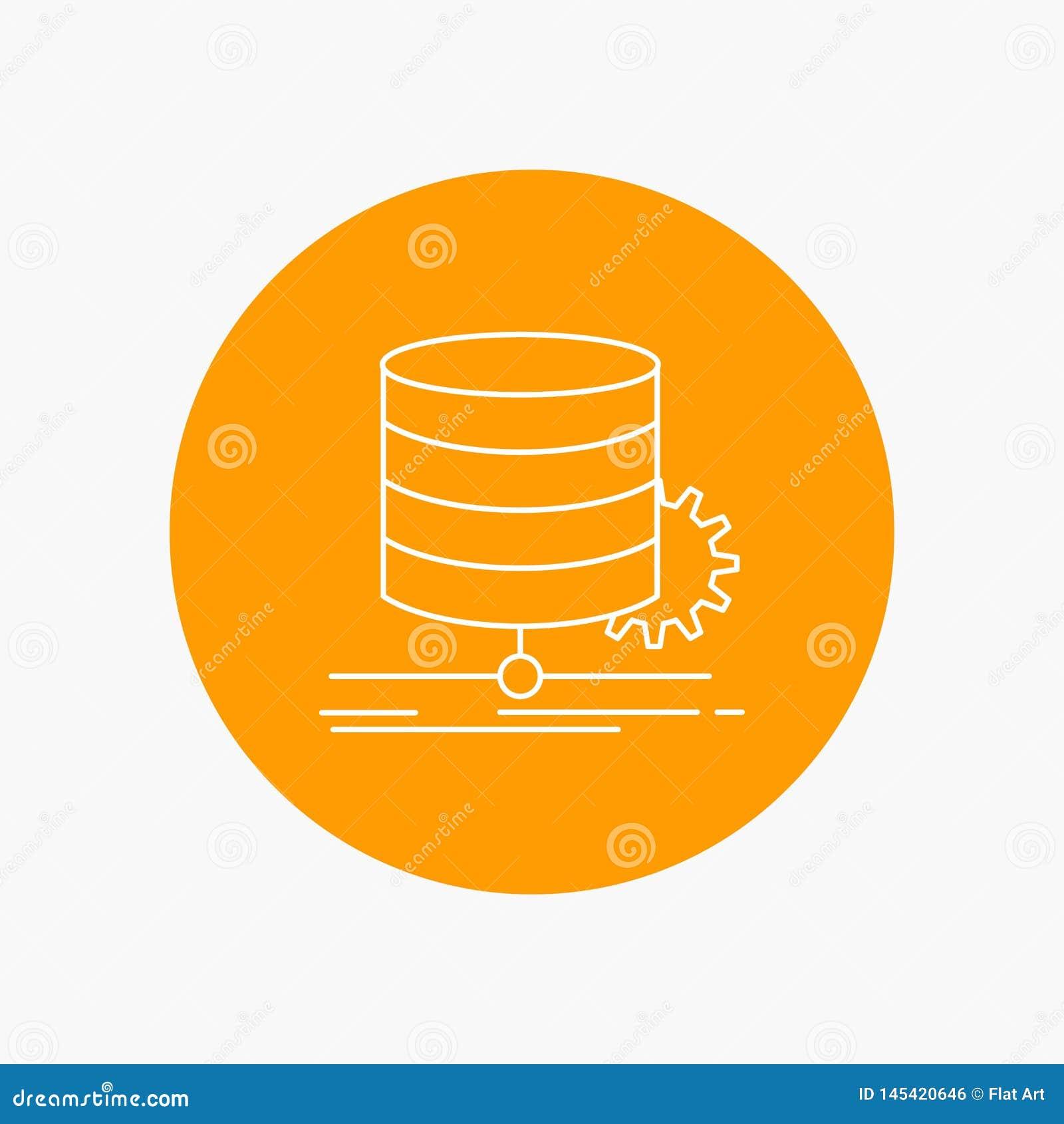 Algorithm, chart, data, diagram, flow White Line Icon in Circle background. vector icon illustration