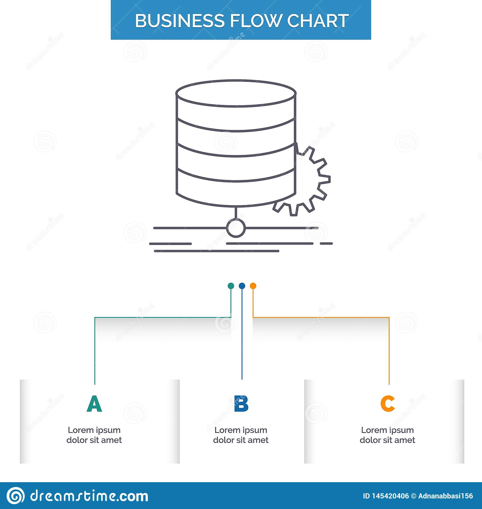 Algoritm diagram, data, diagram, design f?r diagram f?r fl?desaff?rsfl?de med 3 moment Linje symbol f?r presentationsbakgrundsmal