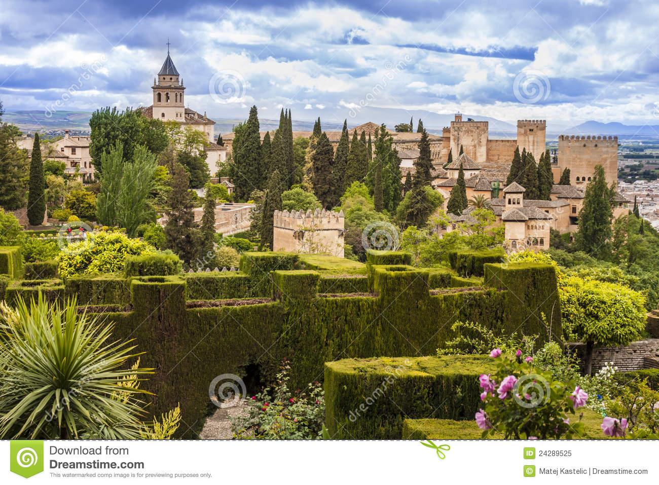 alhambra in granada spain royalty free stock photo