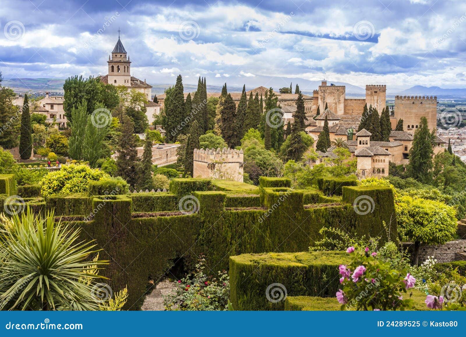 alhambra in granada spain royalty free stock photo
