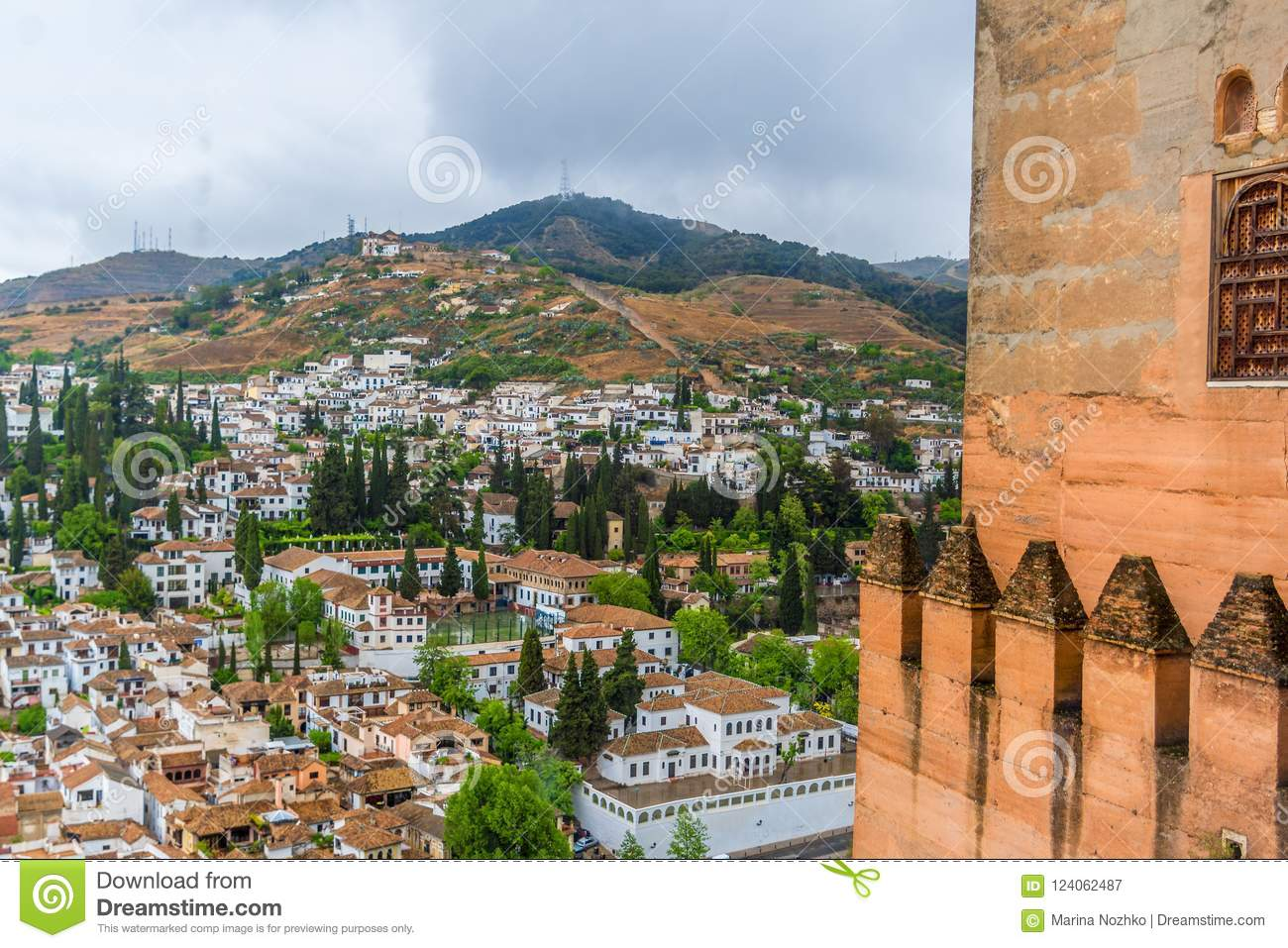 View Of Granada And Albaycín From The Nasrid Palace In The