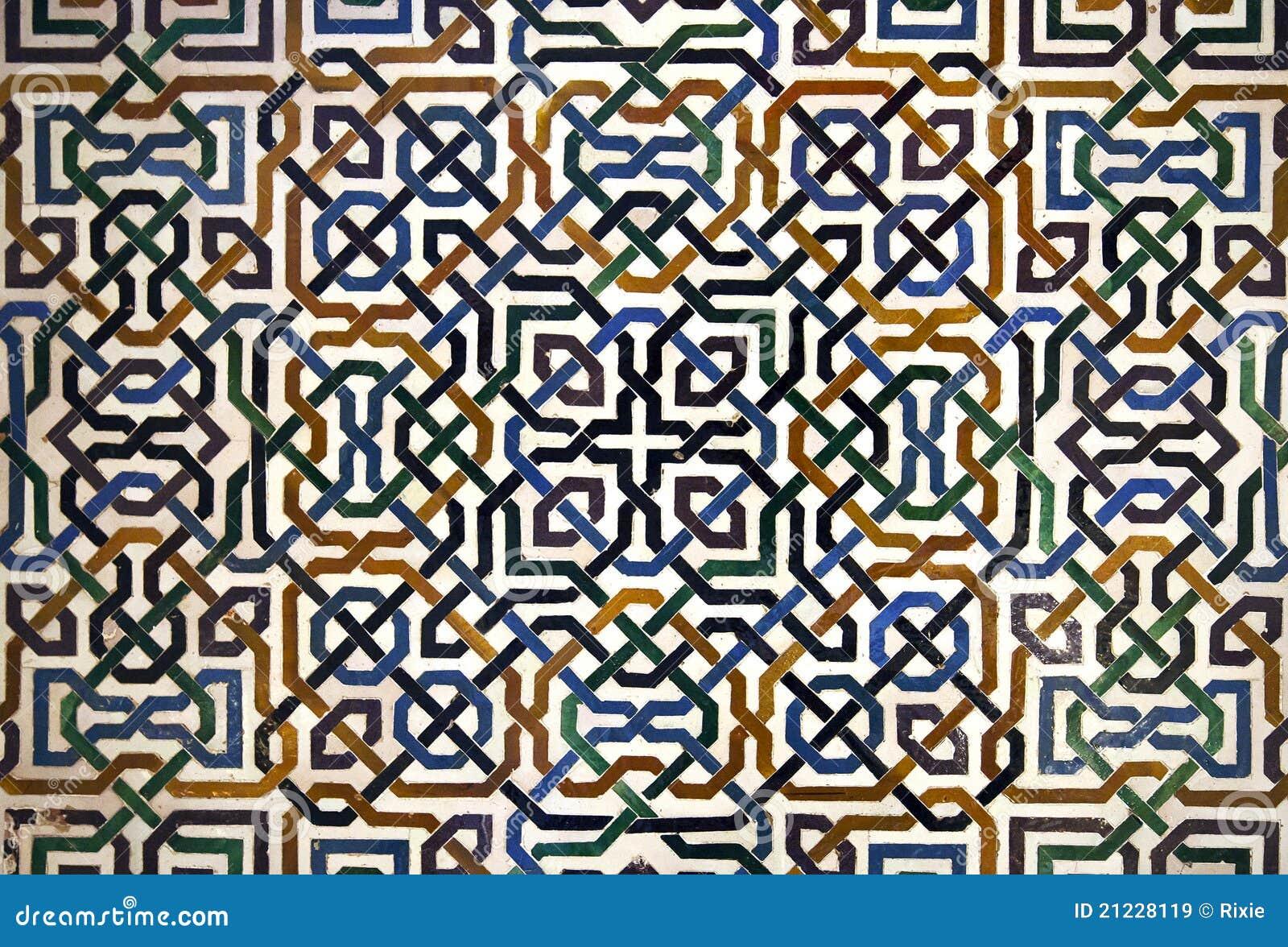 Alhambra Tile Detail Stock Image Image Of Granada