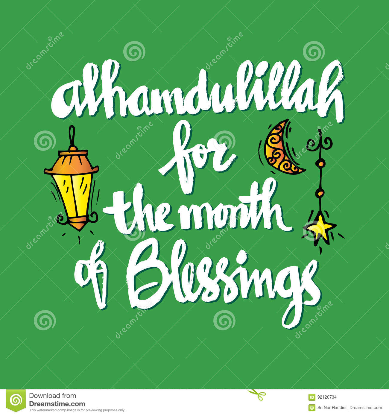 Alhamdulillah for the month of blessing stock illustration alhamdulillah for the month of blessing stock images altavistaventures Choice Image