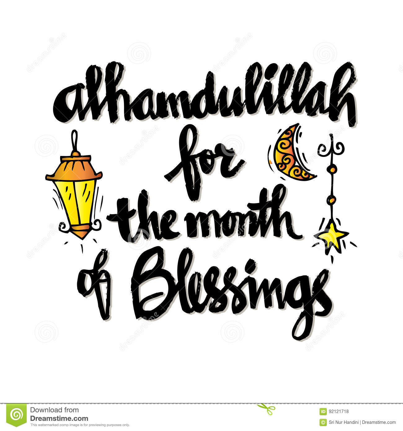 Alhamdulillah for the month of blessing stock illustration download alhamdulillah for the month of blessing stock illustration illustration of arabic muslim altavistaventures Gallery