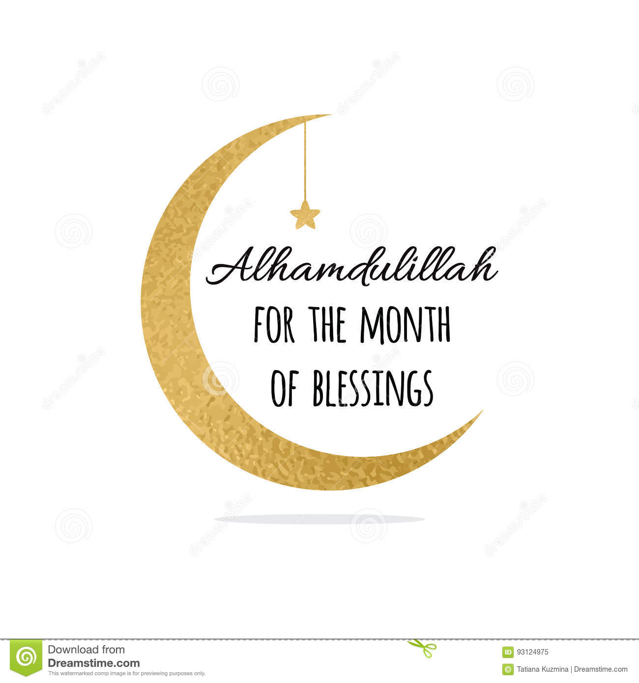 Alhamdulillah quote into golden crescent moon and star for holy download alhamdulillah quote into golden crescent moon and star for holy month of muslim community thecheapjerseys Images