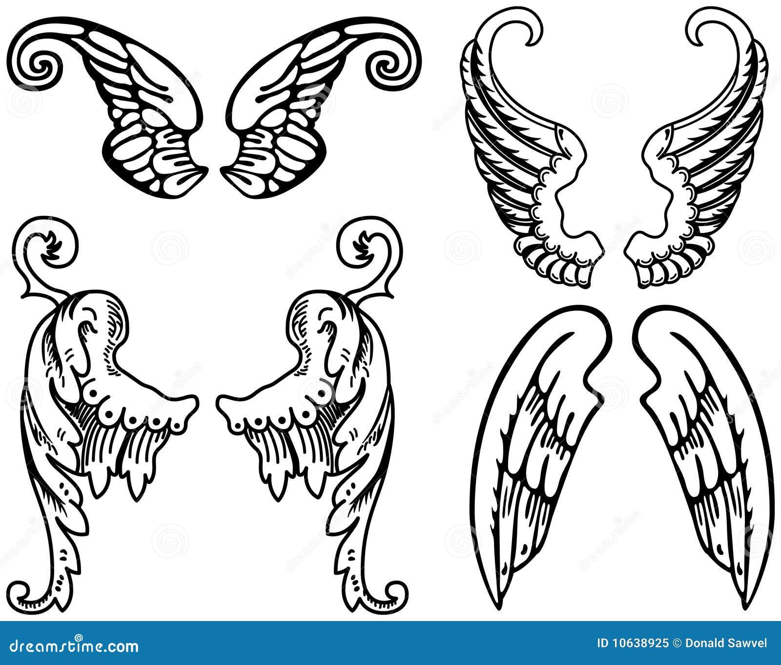 Ali Stilizzate Di Angelo Illustrazione Vettoriale Illustrazione Di