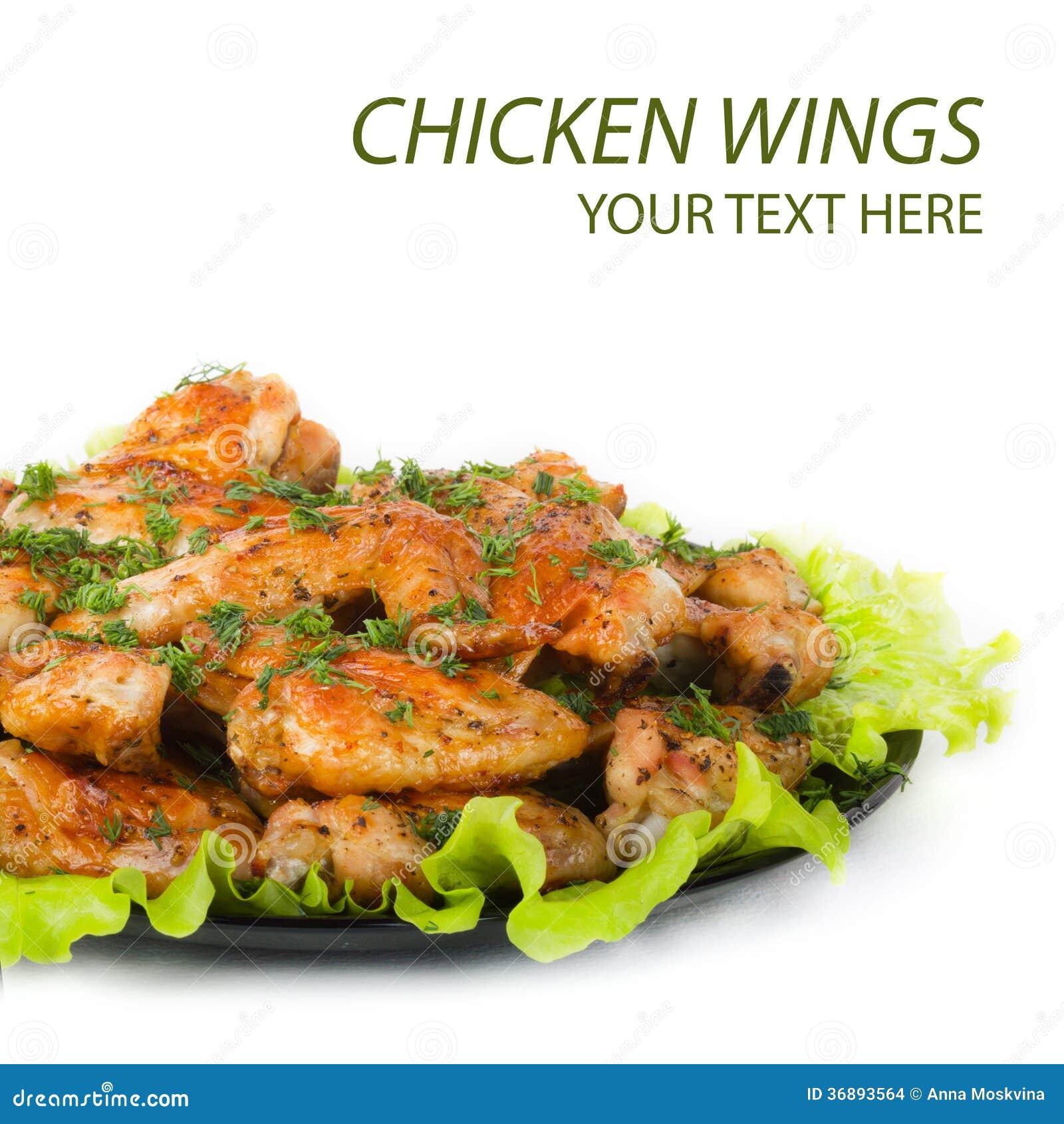 Download Ali di pollo arrostite fotografia stock. Immagine di barbecue - 36893564
