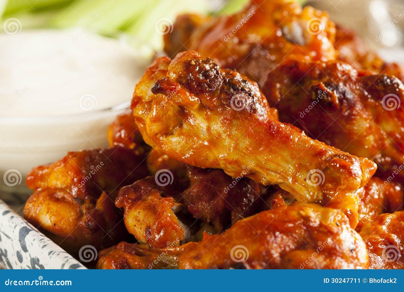 Ali di Spicey e calde della Buffalo di pollo
