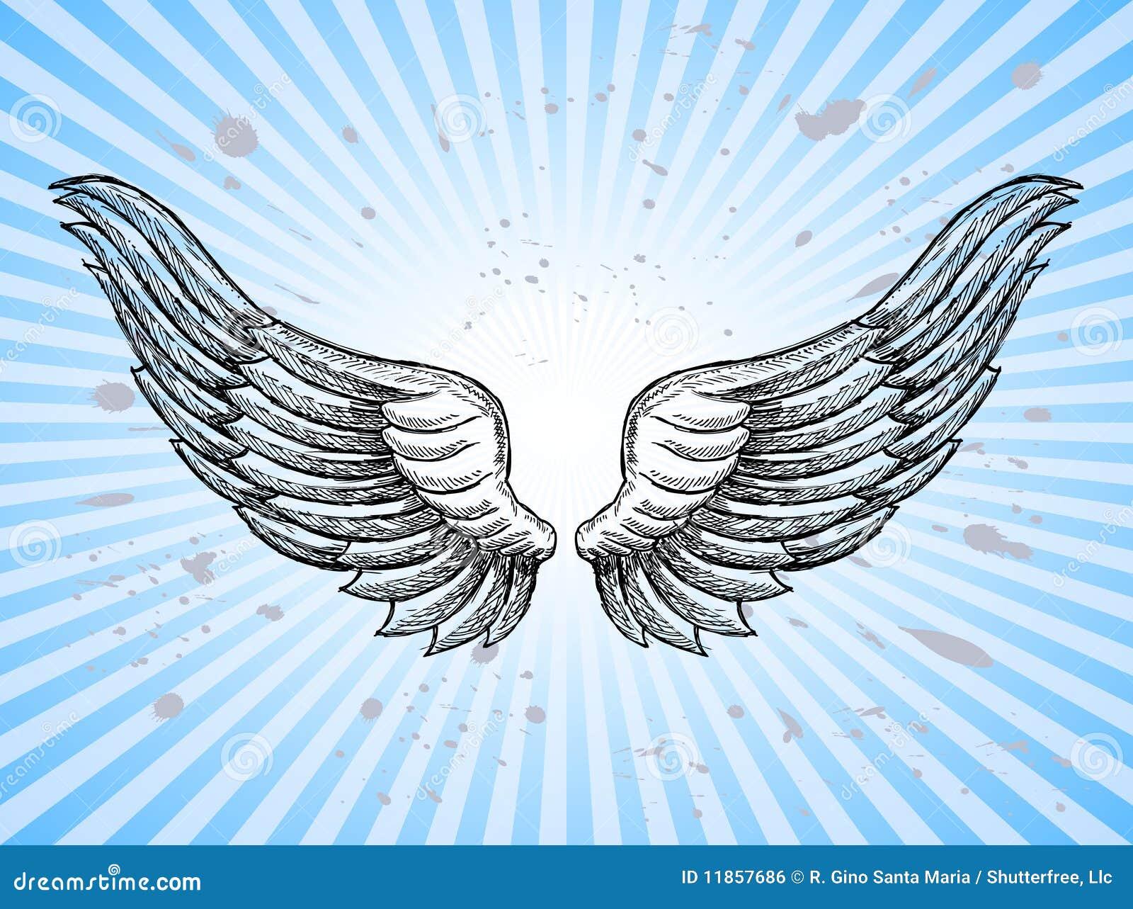 Ali Di Angelo Illustrazione Vettoriale Illustrazione Di Cielo