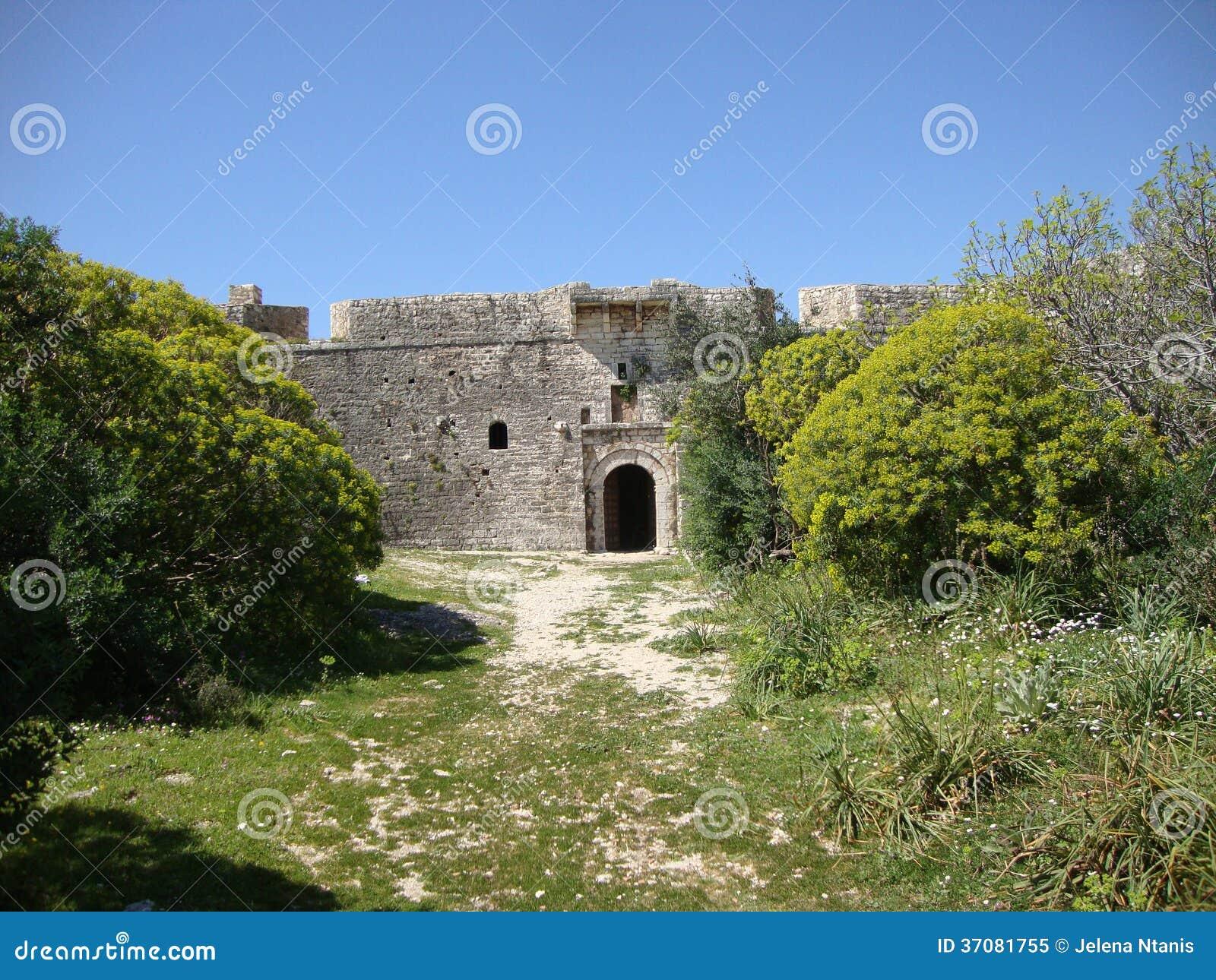 Download Ali Pasha Fortu Główne Wejście, Himara, Palermo, Południowy Albania Obraz Stock - Obraz złożonej z tradycyjny, śródziemnomorski: 37081755