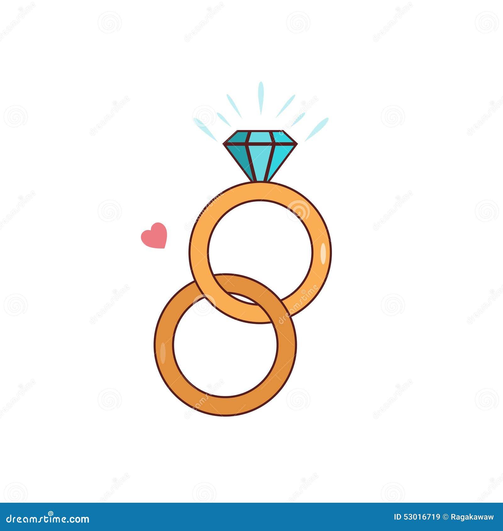 Aliana de casamento isolada do diamante dos desenhos animados aliana de casamento isolada do diamante dos desenhos animados altavistaventures Image collections