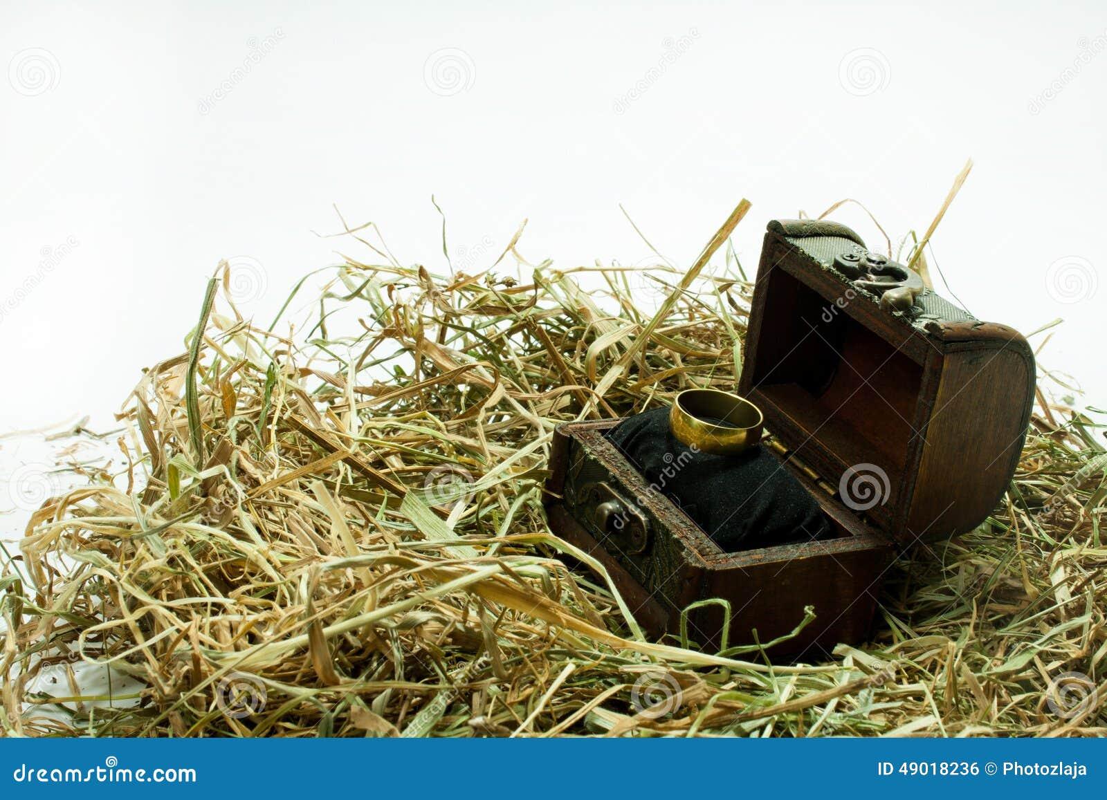 Aliança De Casamento Na Caixa De Madeira Foto de Stock Imagem  #604A1B 1300x957