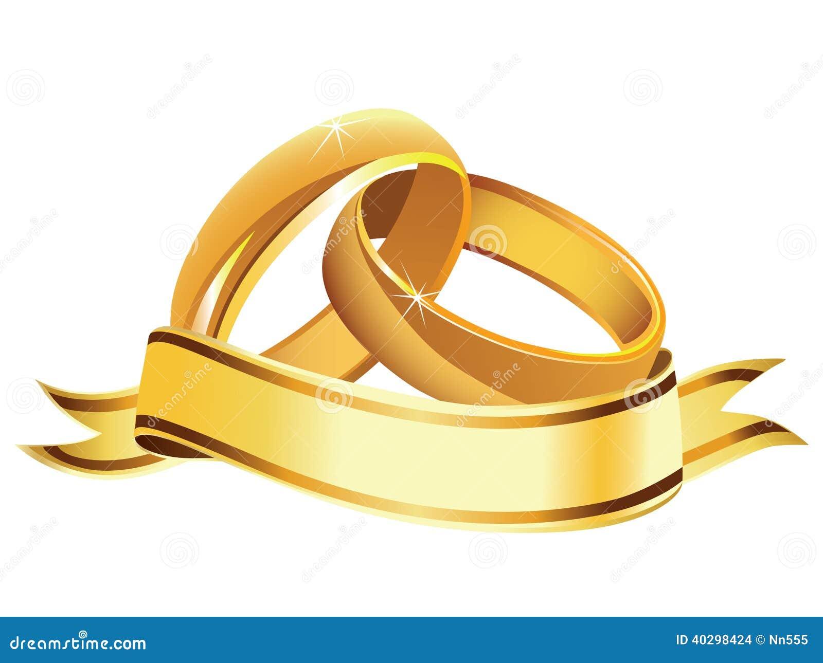 Ilustração do vetor das alianças de casamento isoladas com bandeira ...