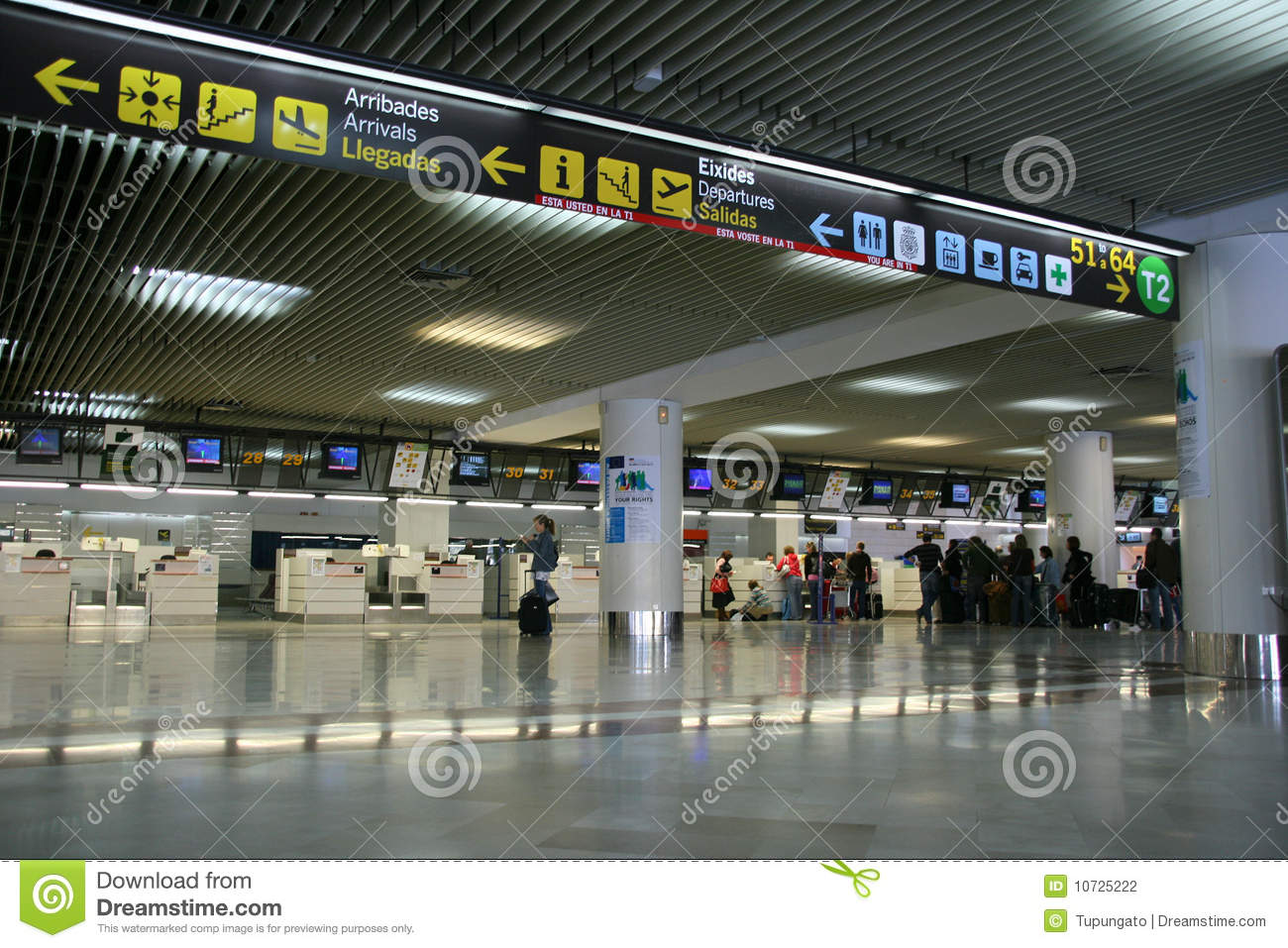 Alicante airport editorial photography. Image of indoors ...