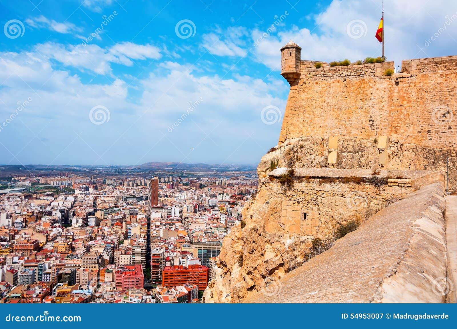 Alicante santa barbara castle in costa blanca stock photo image 54953007 - Stock uno alicante ...