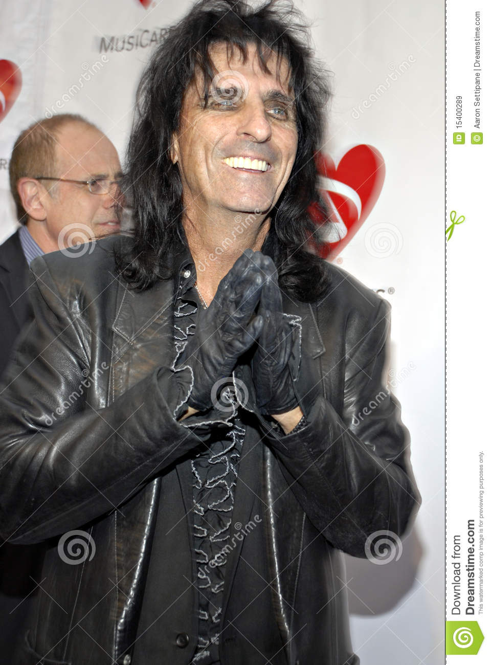 Alice Cooper on the red carpet.