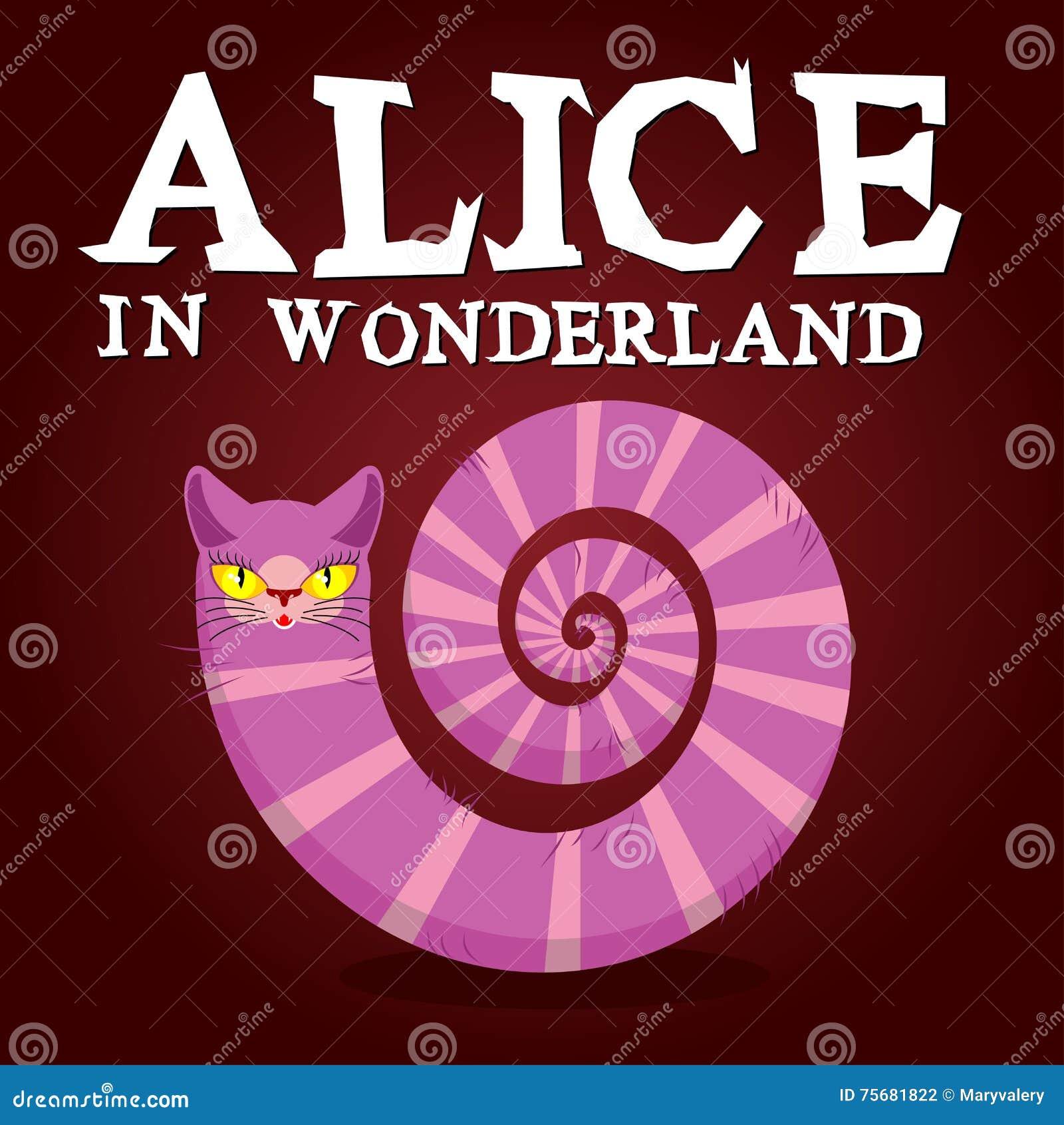 Alice in de titel van het Sprookjesland Cheshire Cat Fantastisch dier Fabul