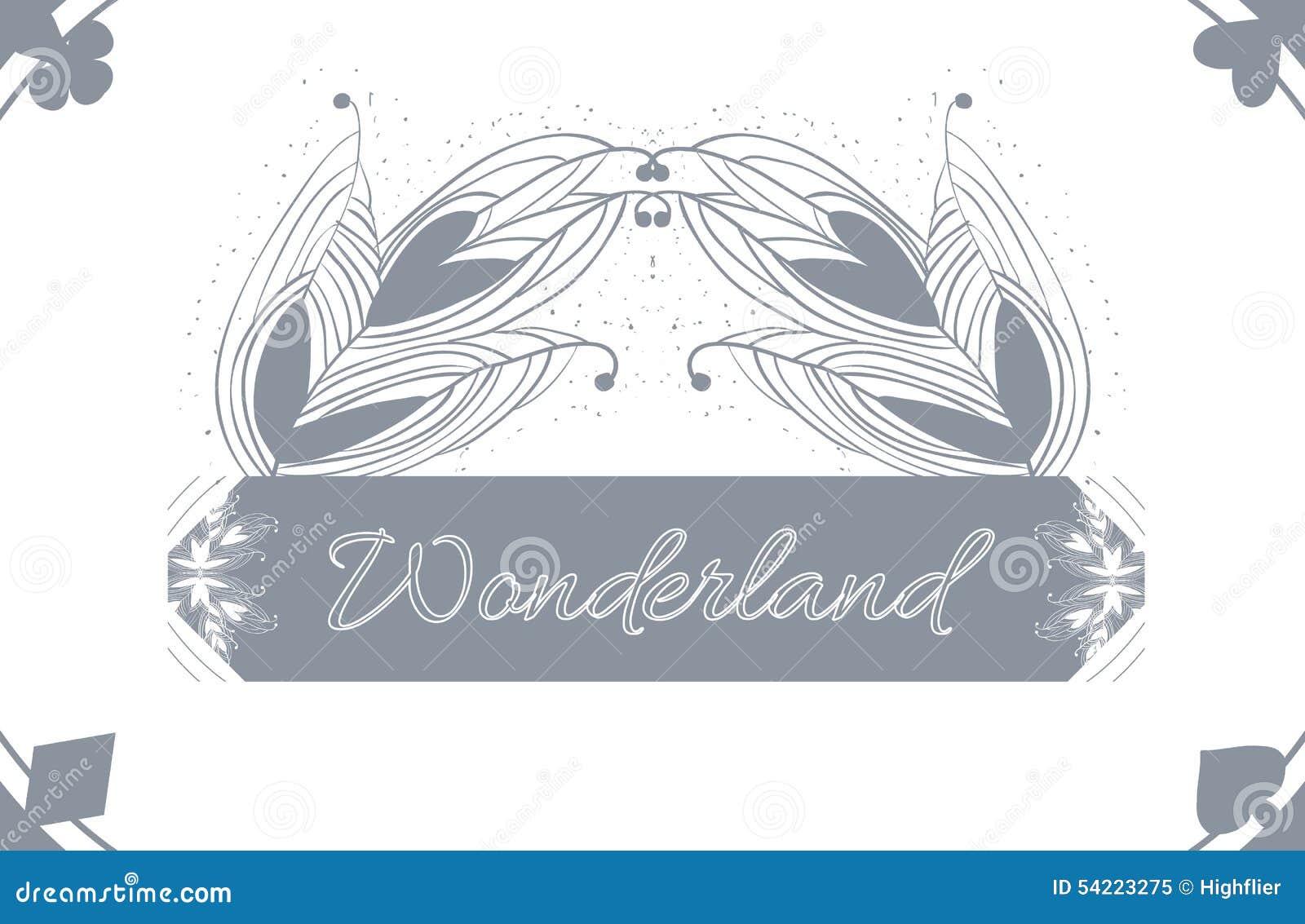 Alice S Advetures In Wonderland Grey Card Pattern