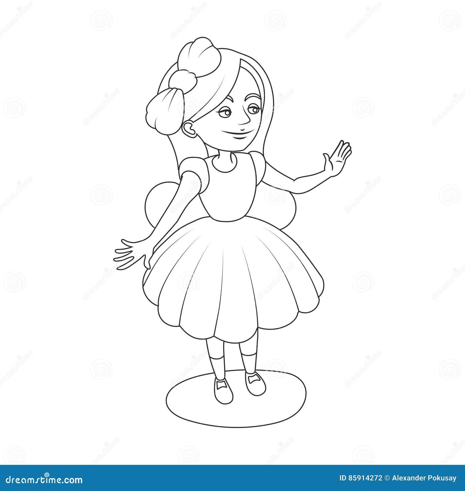 Alice Wonderland Girl Coloring Book Vector Stock Vector
