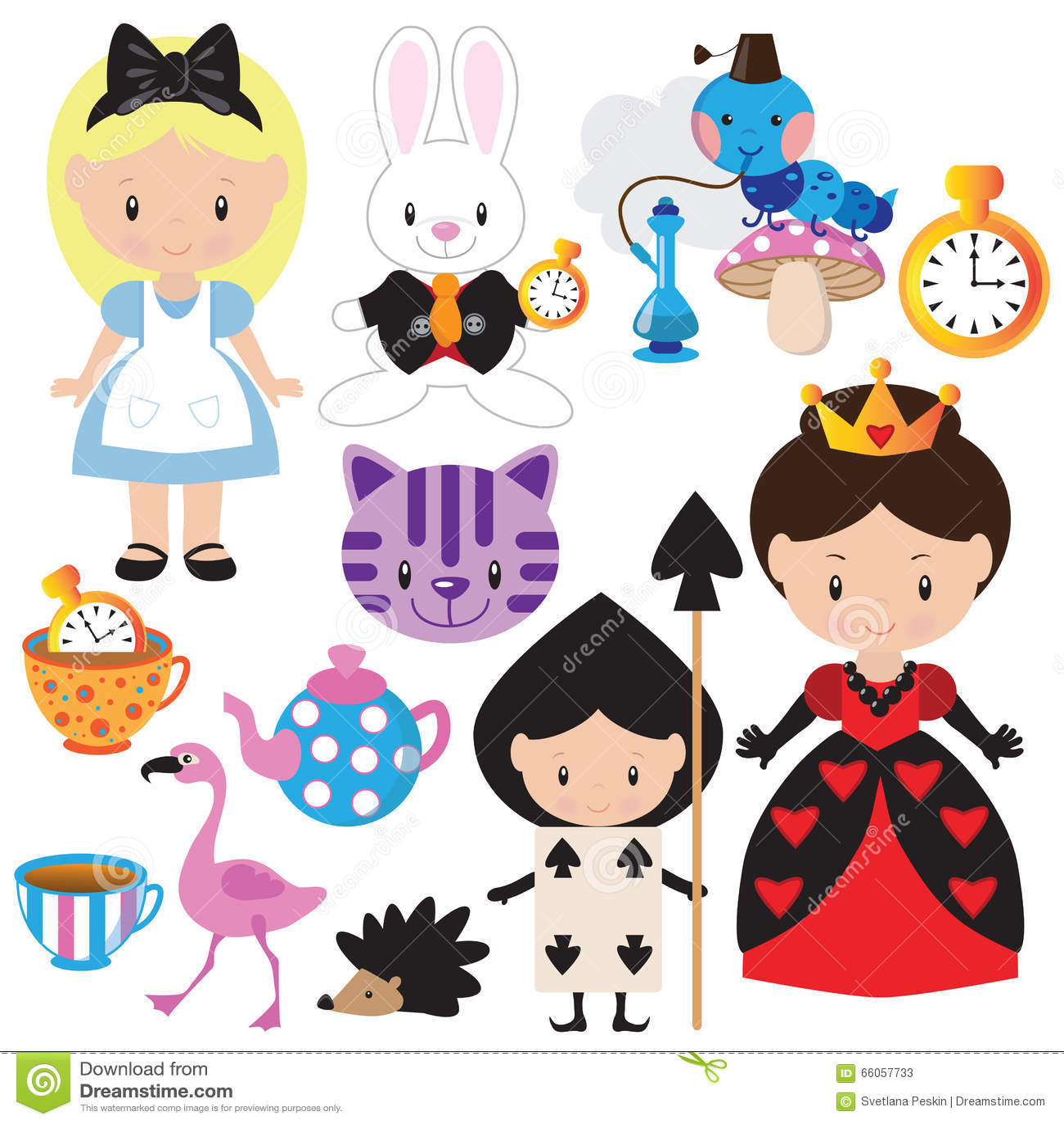 Alice in wonderland vector illustration stock vector for Drawing websites no download