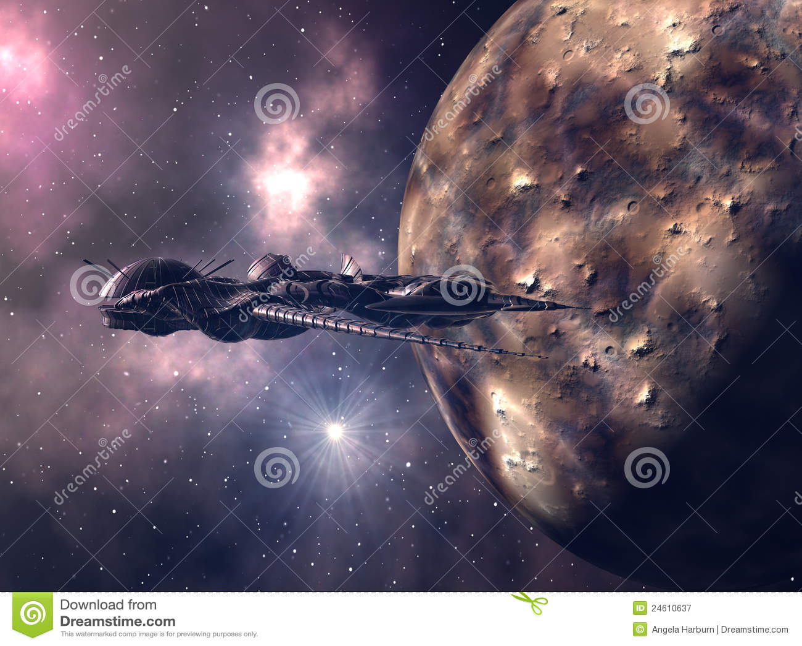 Alien космос корабля крупного плана