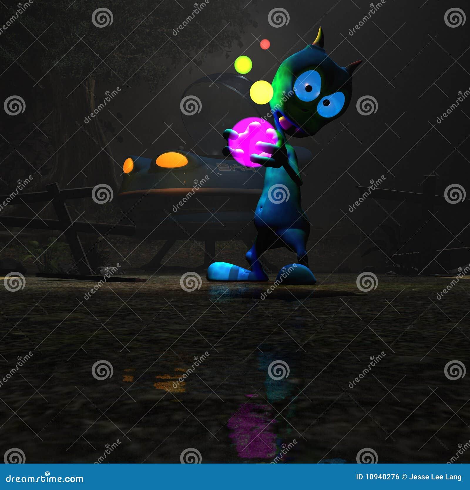 Alien персонаж из мультфильма волшебный