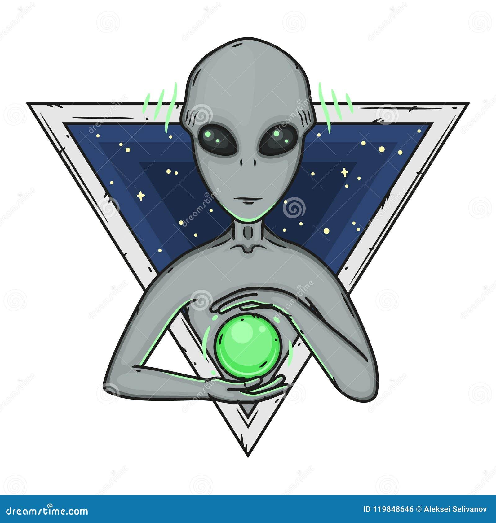 Cartoon alien grey alien alien logo greys