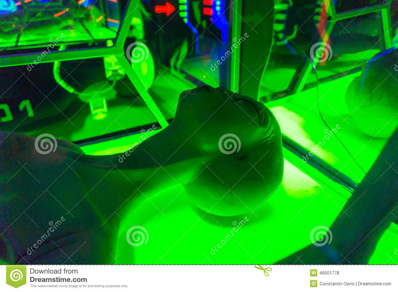Alien decorations in laser tag room editorial stock photo for Alien decoration