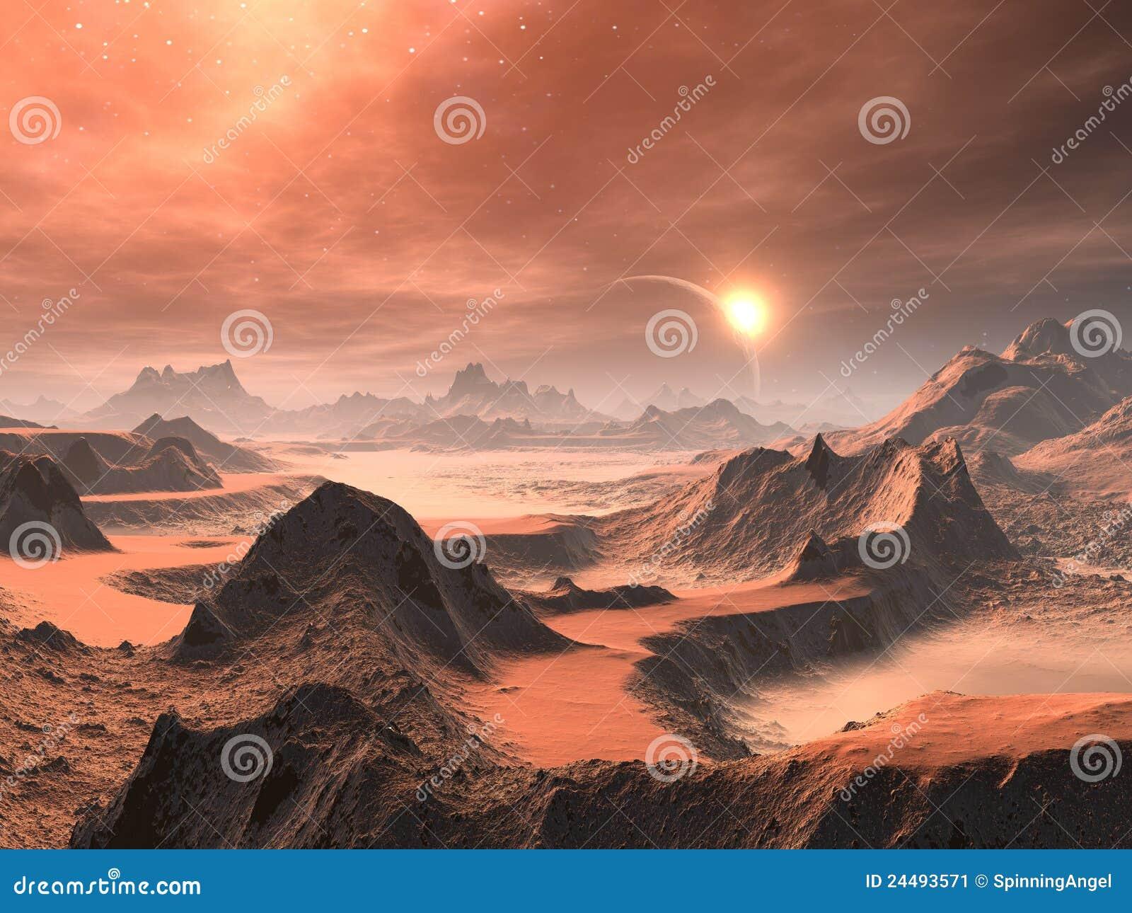 Alien Desert Sunrise