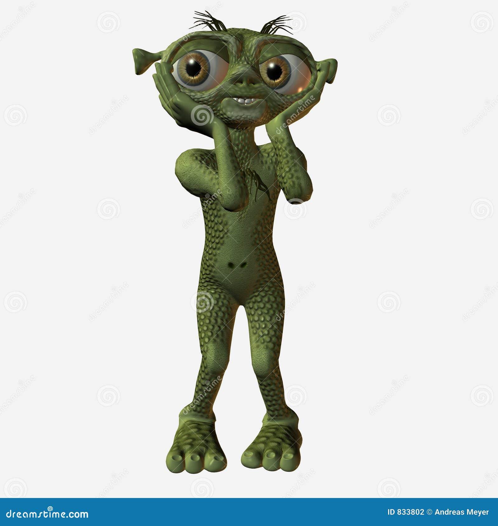Alien embarrased toon