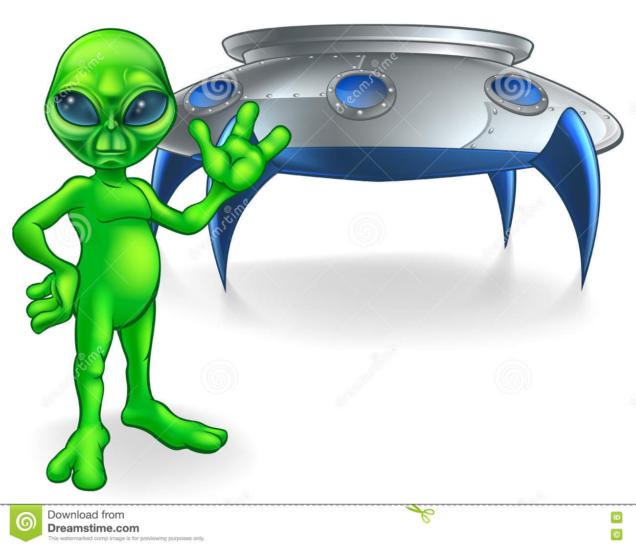 Alien and Flying Saucer Space Ship