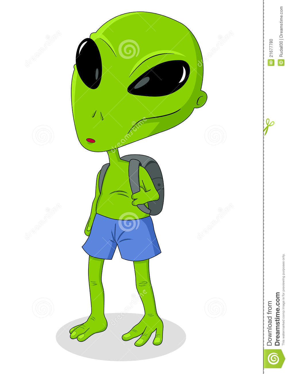 alien goes to school stock photo image 21677780 monster eyes and mouth clipart monster eye clipart black and white