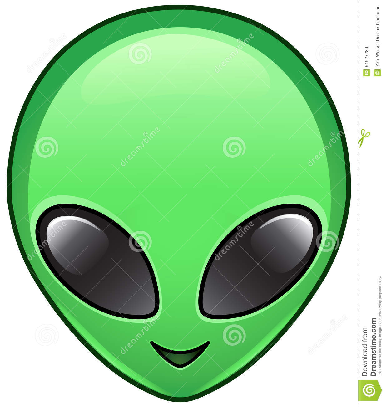 Alien Icon Stock Vector - Image: 51927284