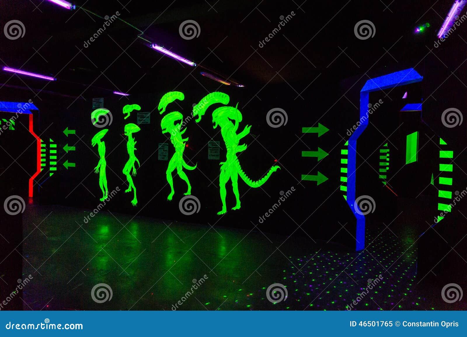 Alien Laser Tag Arena Editorial Image - Image: 46501765