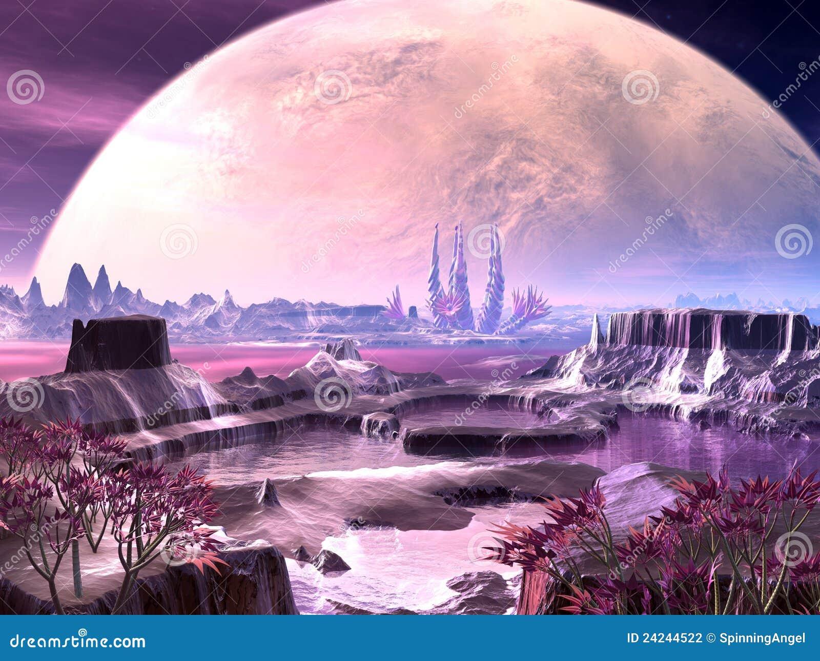 Alien Plant Life on Faraway Planet