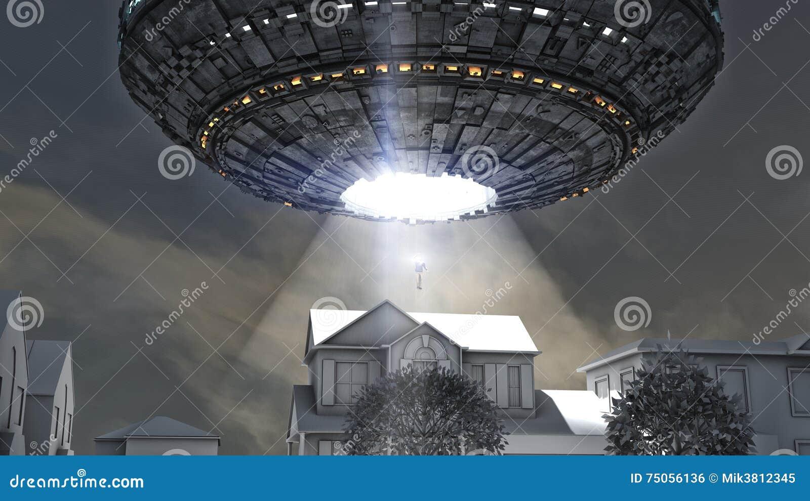 Alien spacecraft abduction