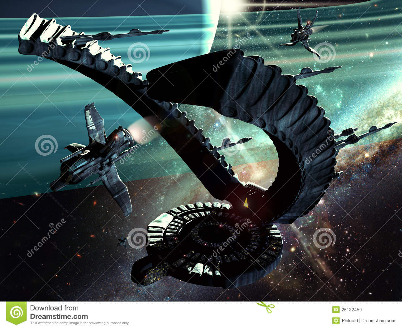 Alien Spaceship Royalty Free Stock Images