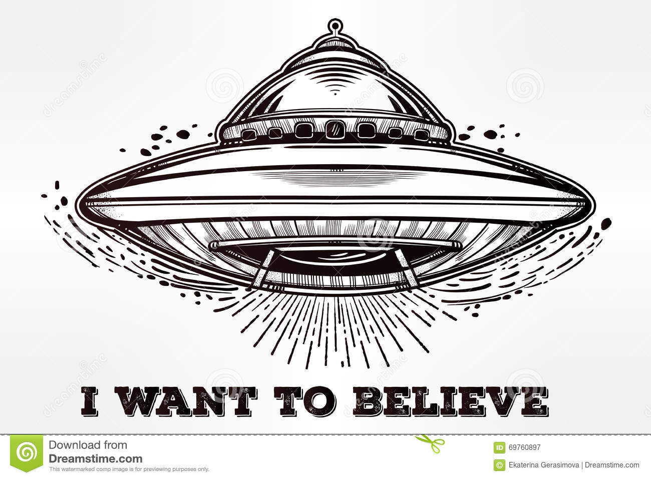 flying saucer coloring page - alien spaceship ufo background vector stock vector