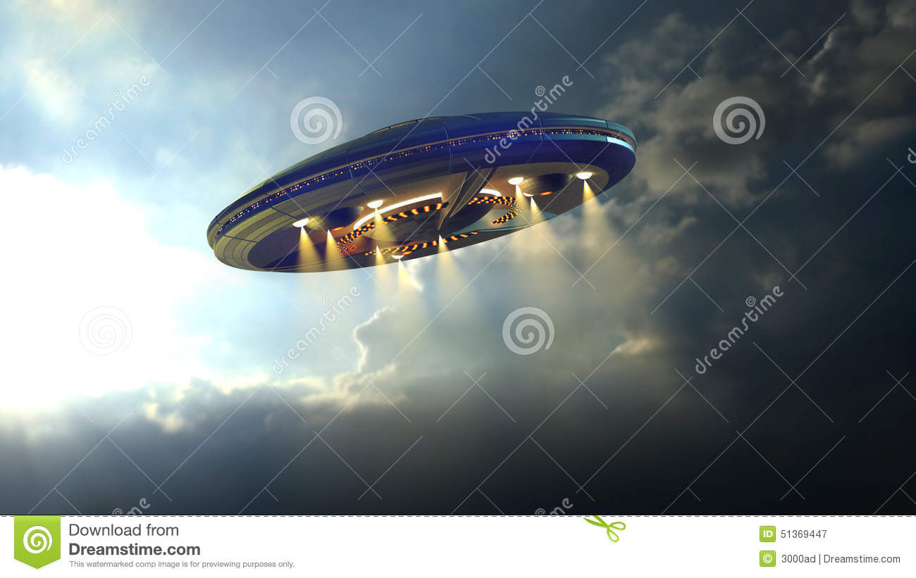 Alien UFO near Earth