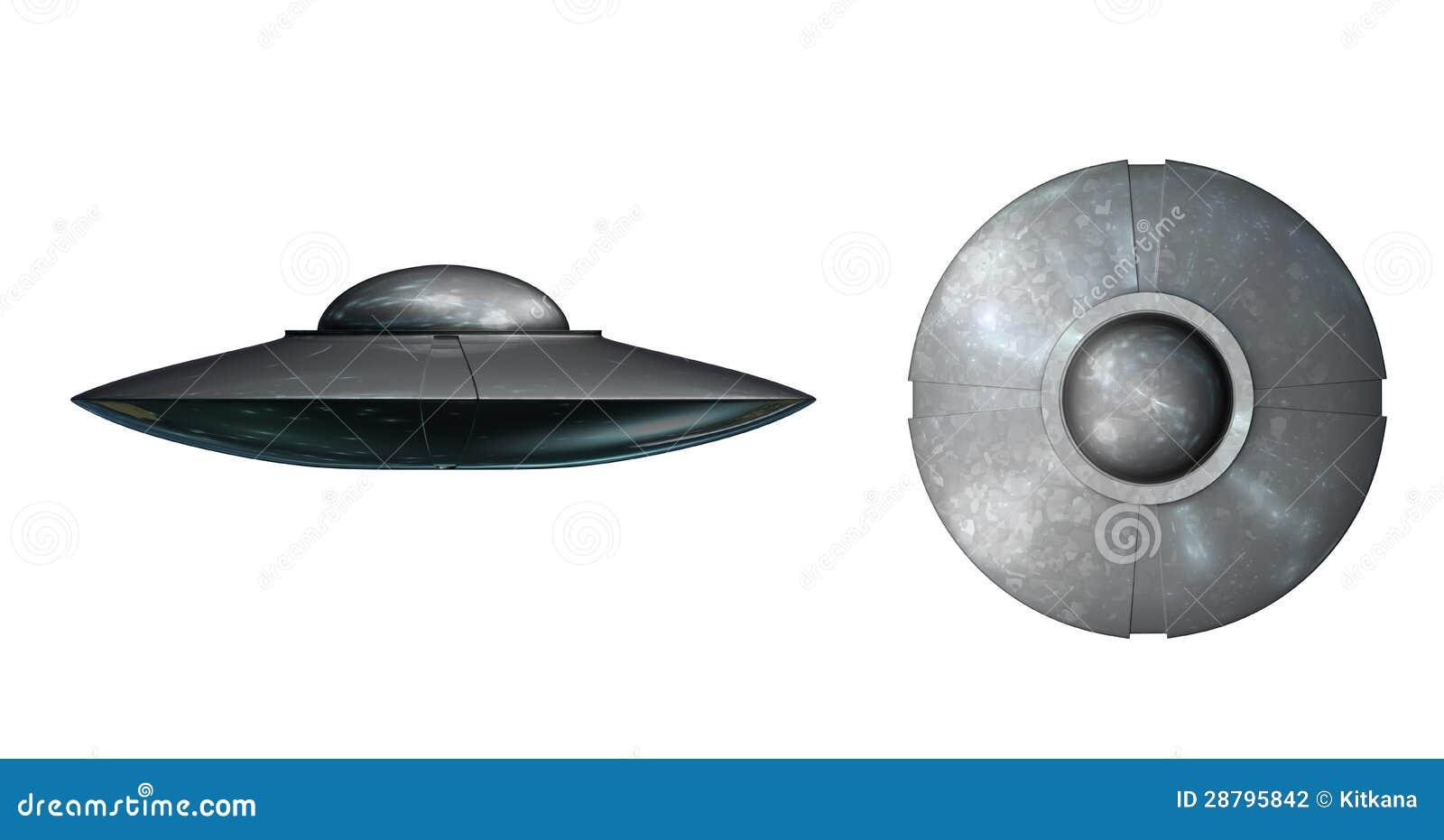 Ufo White Background