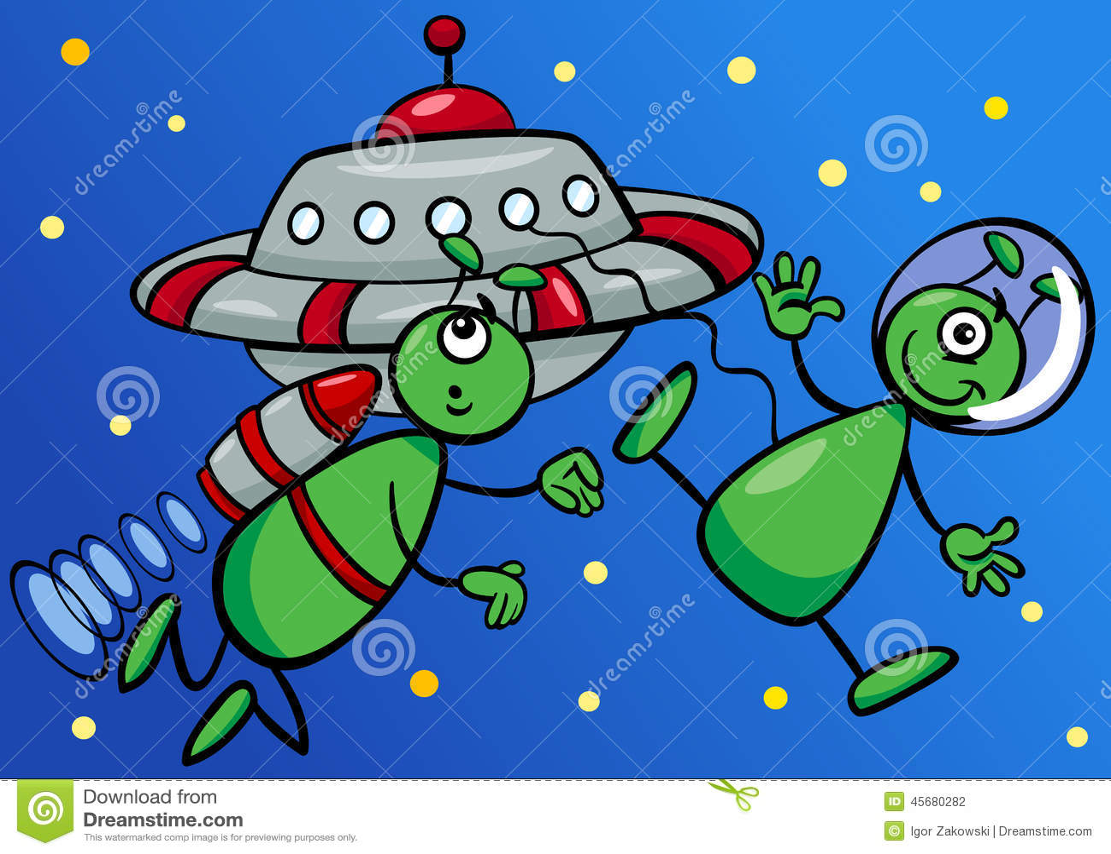 cartoon Space characters alien