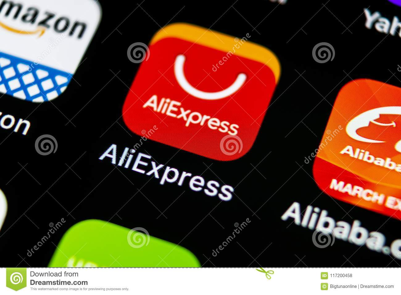 Aliexpress Application Icon On Apple Iphone X Smartphone Screen