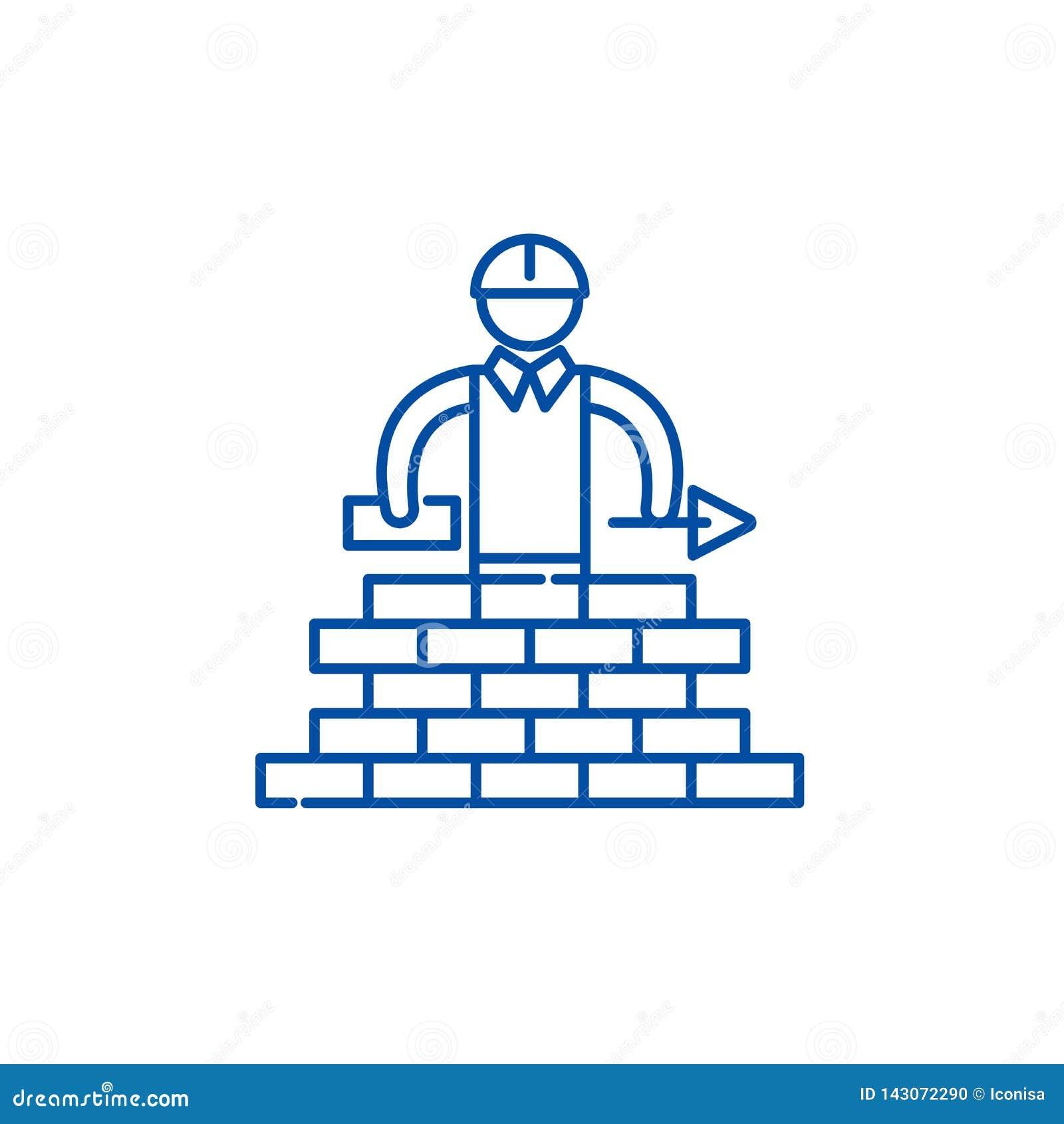Alignement concept d ic?ne Symbole plat de construction de vecteur, signe, illustration d ensemble