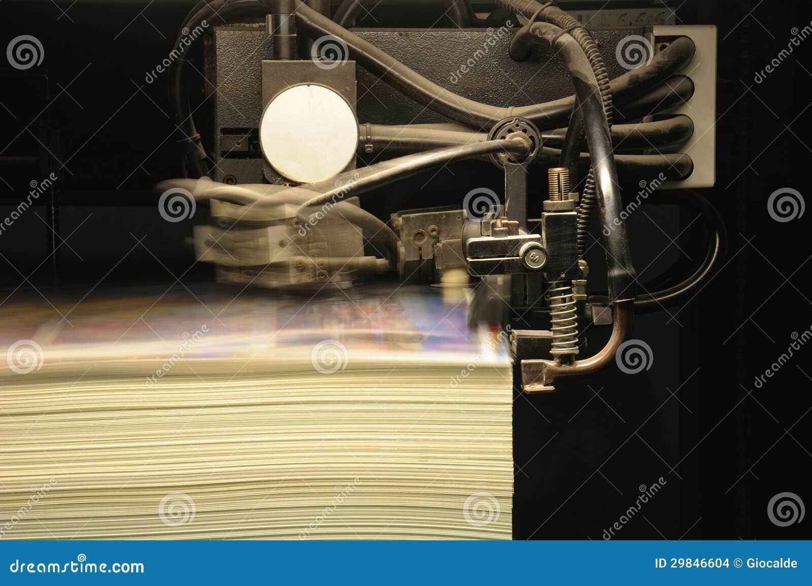 Impressão deslocada da imprensa, detalhe