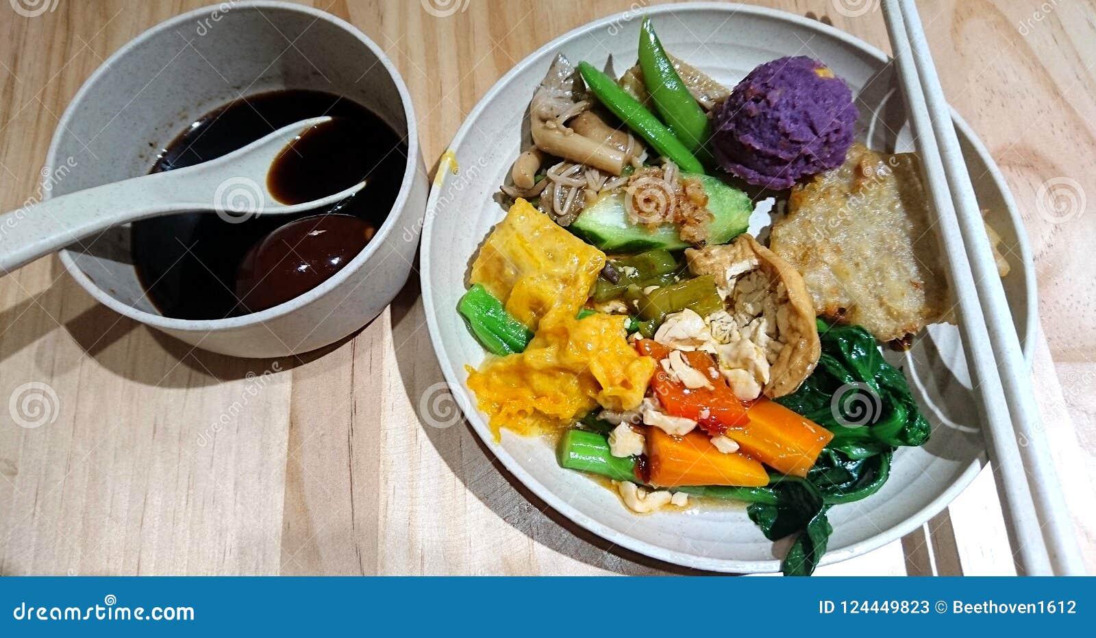 Alimento asiático do vegetariano