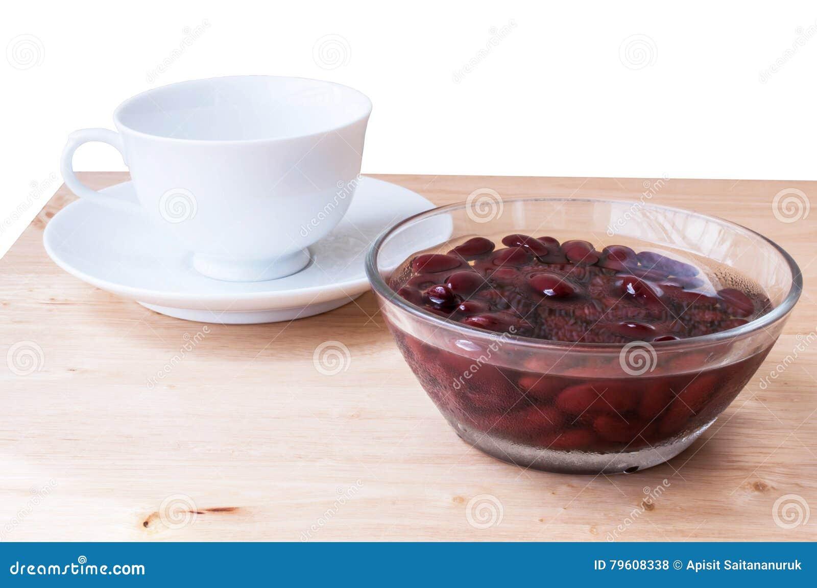 Alimento biológico doce da sobremesa do açúcar da fervura do feijão vermelho